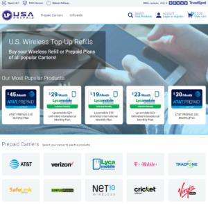 USAprepaid.com Homepage